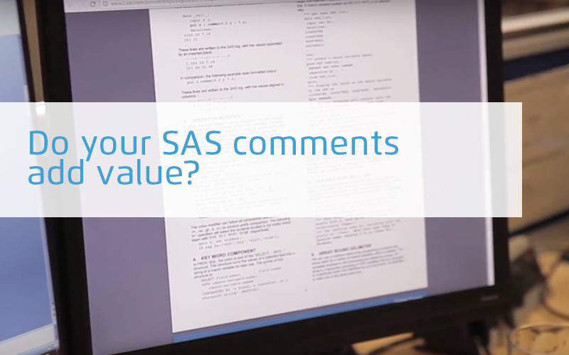 Do your sas comments add value