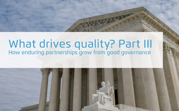 How enduring partnerships grow from good governance