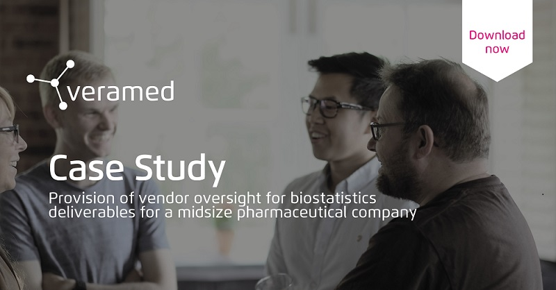 Veramed Resources, Case Study: Provision of vendor oversight for biostatistics deliverables for a midsize pharmaceutical company